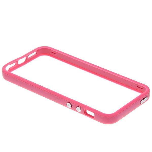 Protective Ultraslim Bumper за iPhone 5 -  розов - 4