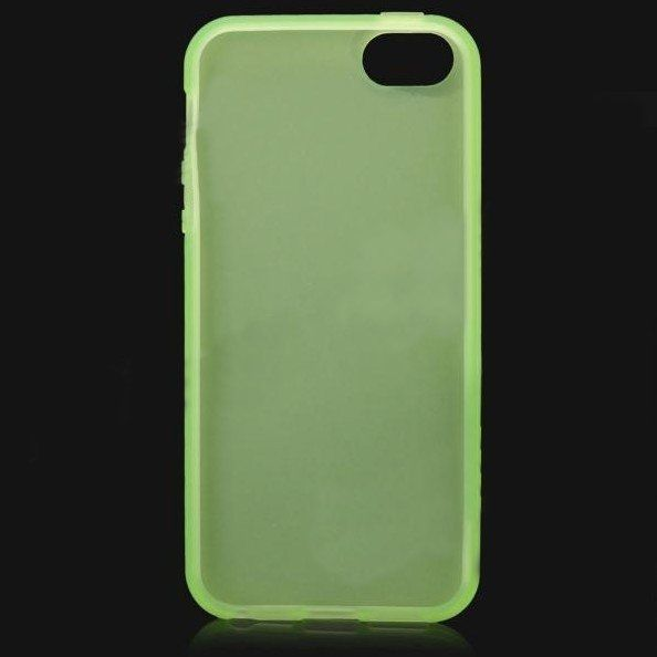 Protective Translucent TPU Case за iPhone 5 -  зелен - 2