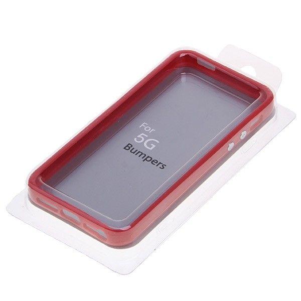 Protective Ultraslim Bumper за iPhone 5 -  червен - 5