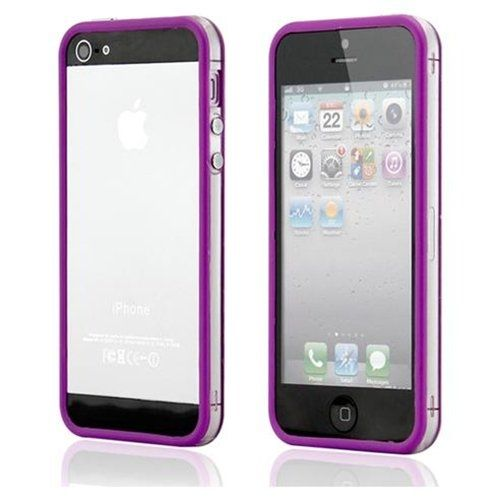 Protective Ultraslim Clear Bumper за iPhone 5 -  лилав - 2