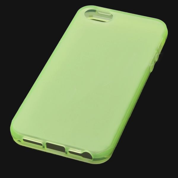 Protective Translucent TPU Case за iPhone 5 -  зелен - 3