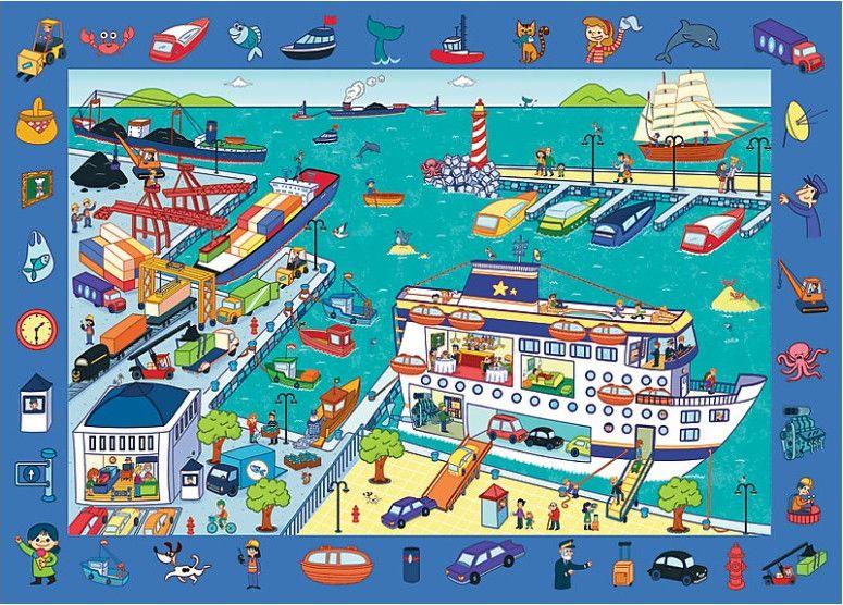 Пъзел Trefl от 70 части - Ние посещаваме пристанище - 1