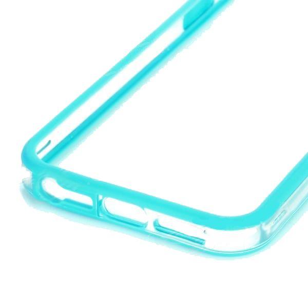 Protective Ultraslim Clear Bumper за iPhone 5 -  син - 4