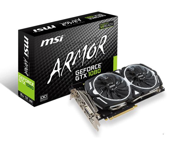 Видеокарта MSI GeForce GTX 1080 Armor Overclocked (8GB GDDR5X) - 1