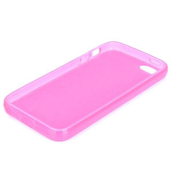 Protective Translucent TPU Case за iPhone 5 -  розов-прозрачен - 2