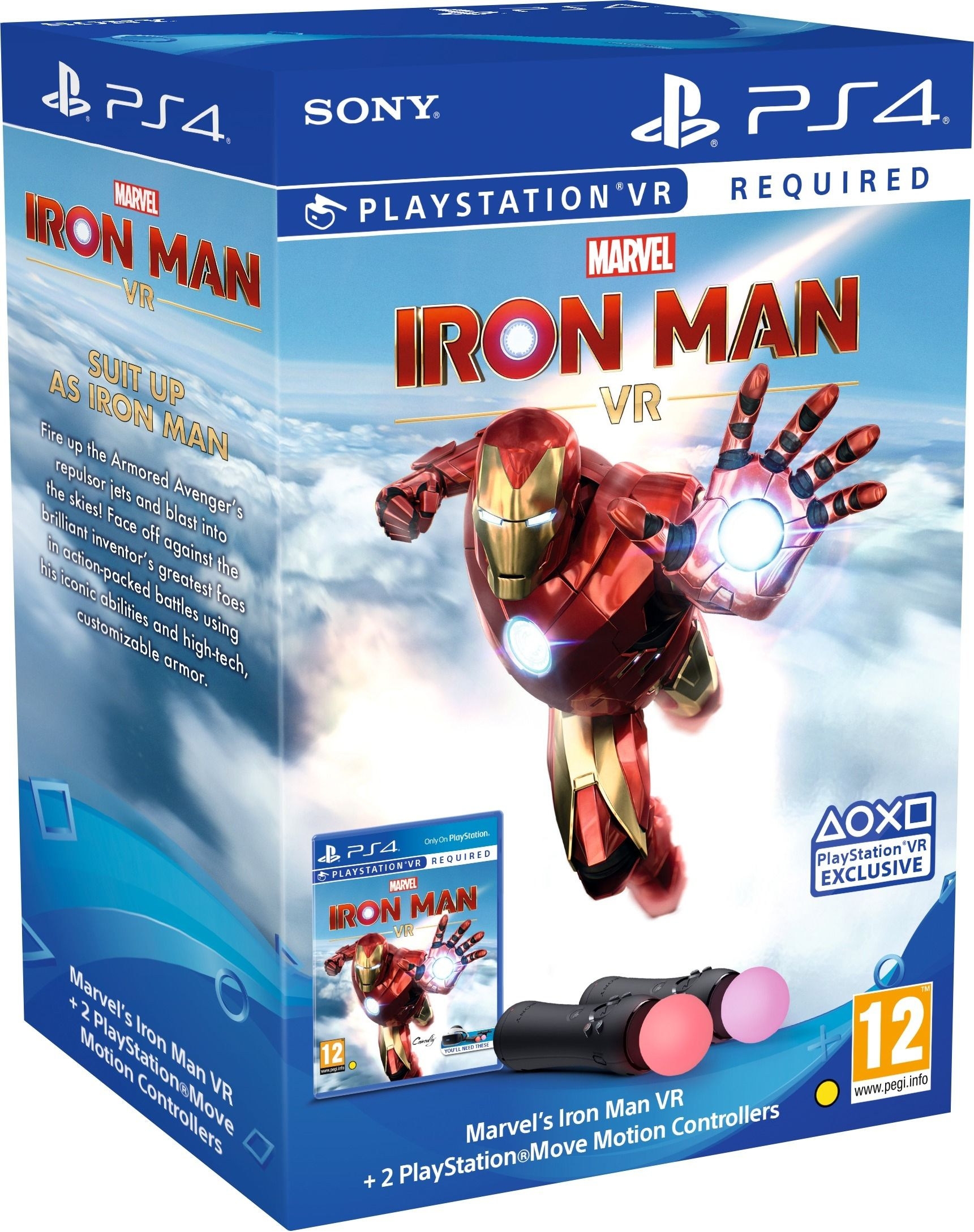 Marvel's Iron Man + PlayStation Move Controlers Bundle (PS4 VR) - 1