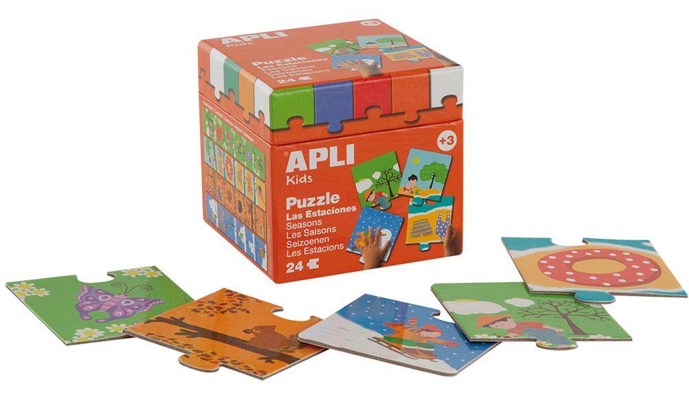 Детски пъзел Apli - Четири сезона,  24 елемента, 4 теми - 1