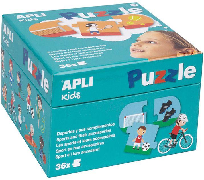 Детски пъзел Apli - Спорта и неговите инструменти, 36 части - 1