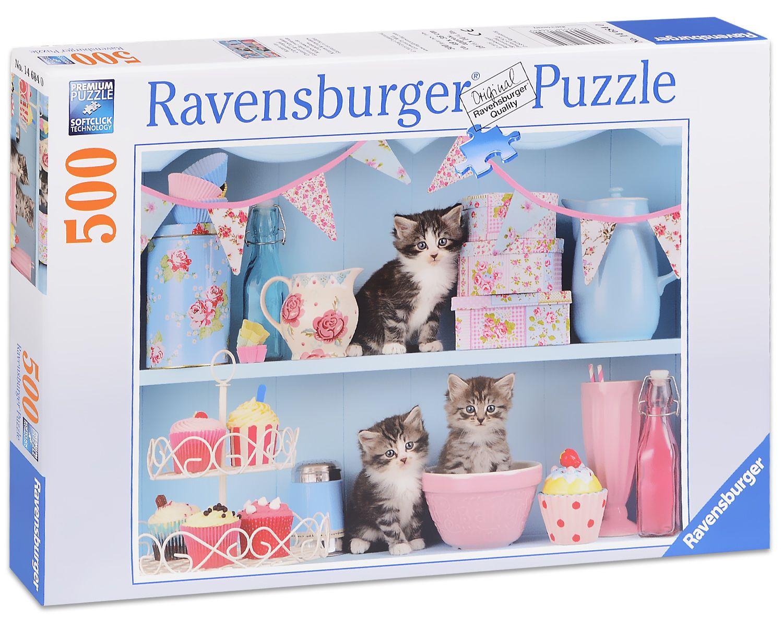 Пъзел Ravensburger от 500 части - Котенца и кексчета - 1