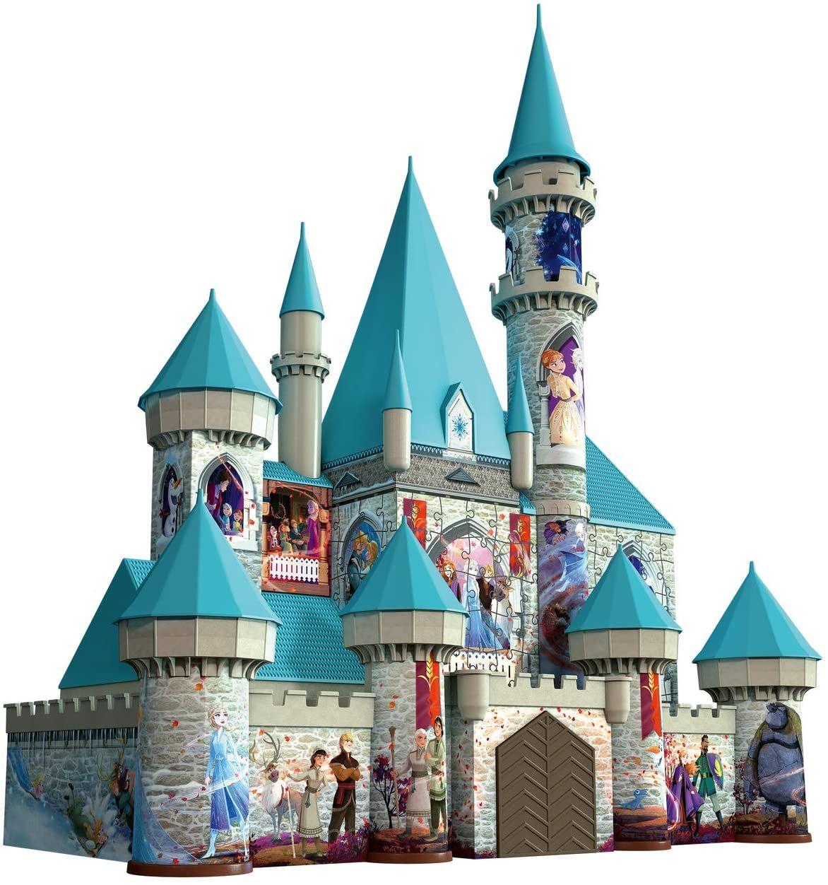 3D пъзел Ravensburger от 216 части - Замъкът на Елза и Анна, Замръзналото кралство 2 - 2