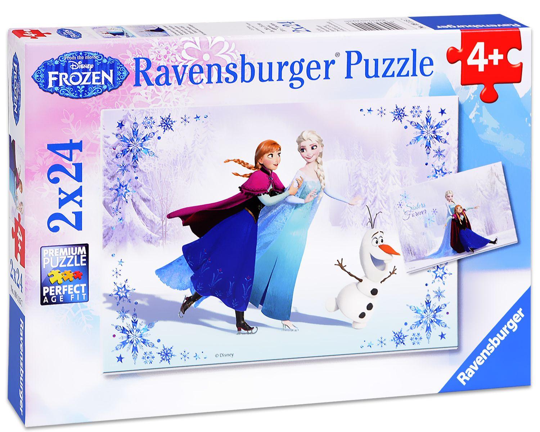 Пъзел Ravensburger от 2 х 24 части - Замръзнало кралство - Сестри завинаги - 1