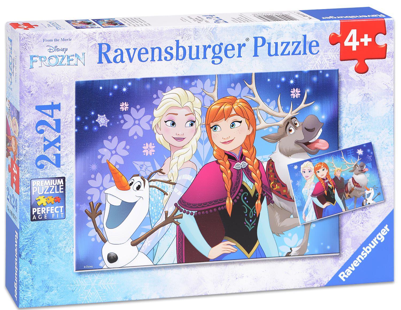 Пъзели Ravensburger 2 от 24 части - Дисни Frozen - 1