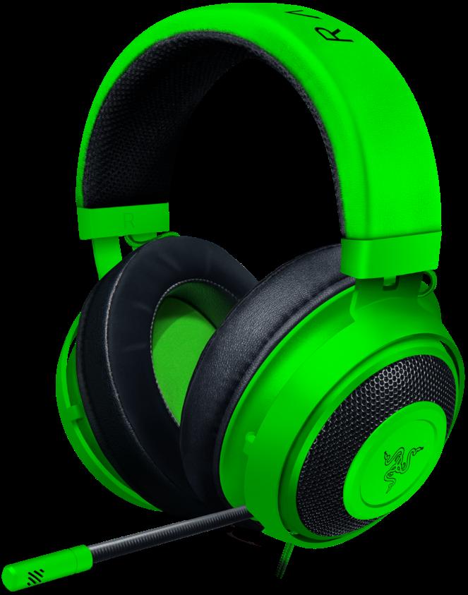Гейминг слушалки Razer Kraken - Multi-Platform, зелени - 2