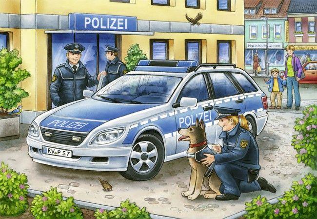 Пъзел Ravensburger от 2х12 части - Полицай и пожарникари - 2