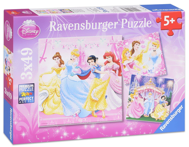 Пъзели Ravensburger 3 от 49 части - Дисни Принцеси - 1