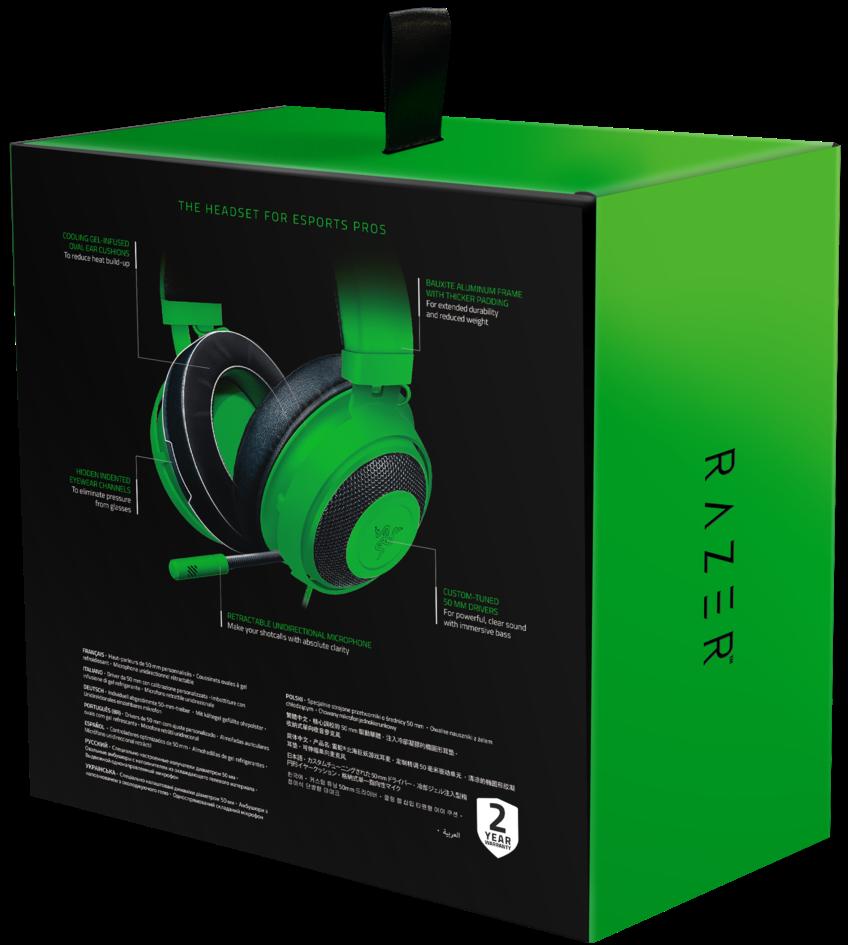 Гейминг слушалки Razer Kraken - Multi-Platform, зелени - 6