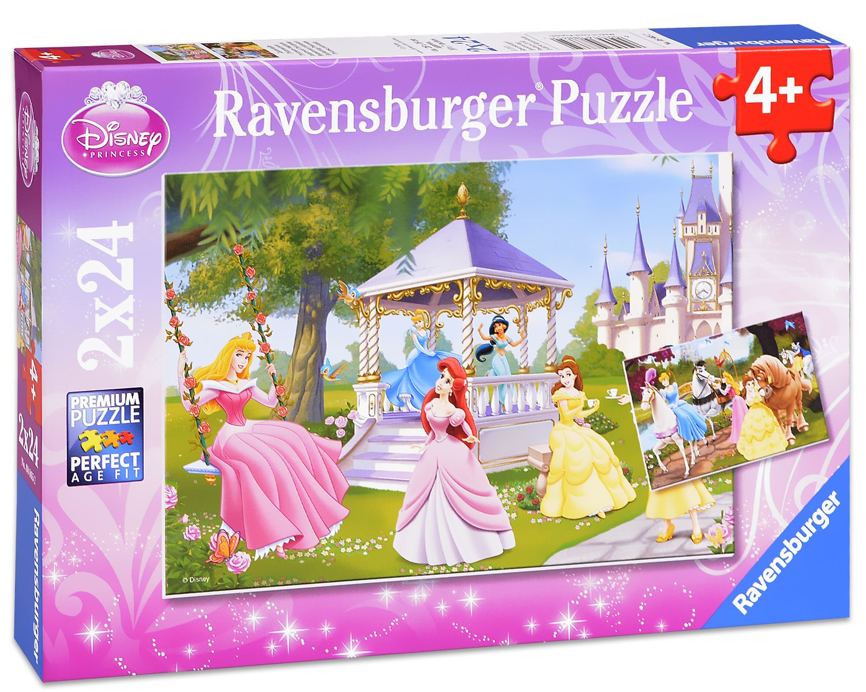 Пъзел Ravensburger от 2 х 24 части - Дисни принцеси - 1