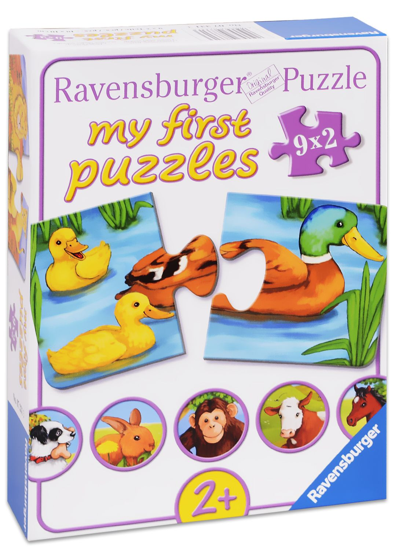 Пъзели Ravensburger 9 х 2 части - Животинчета - 1