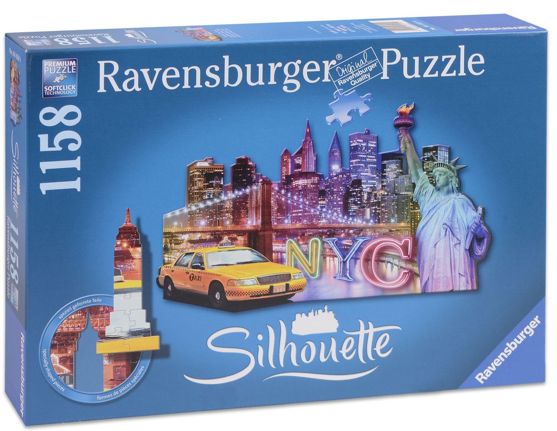 Пъзел Ravensburger от 1158 части с формата на Ню Йорк - 1