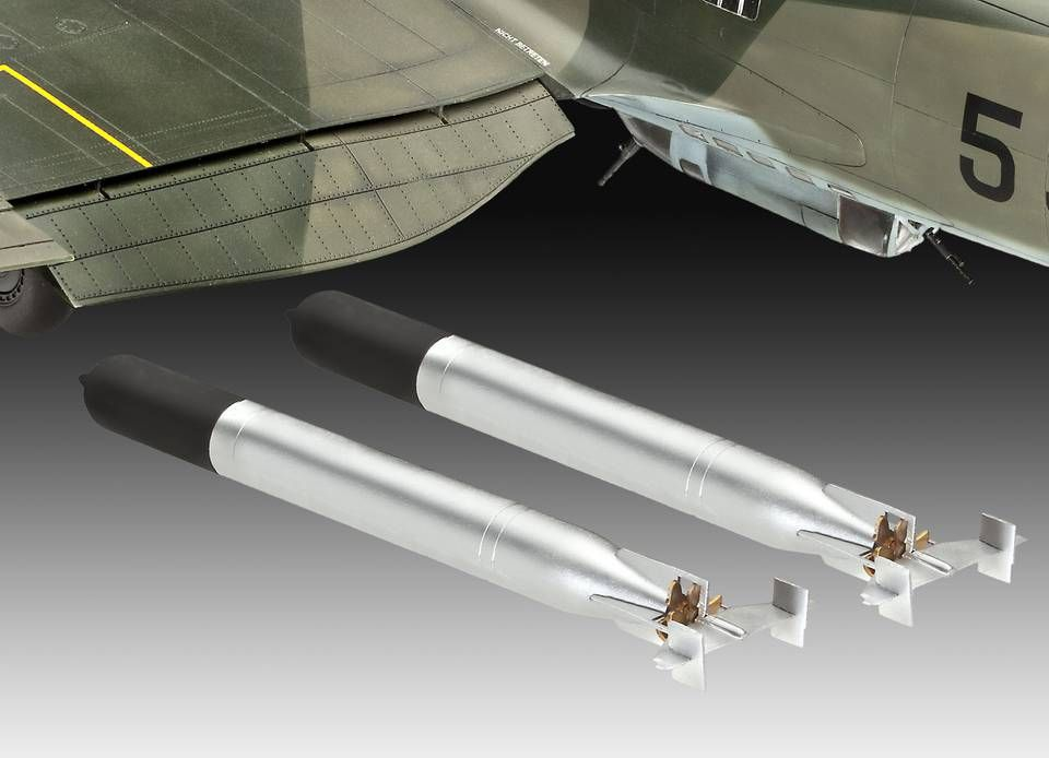 Сглобяем модел на военен самолет Revell Heinkel - He 111 H-6 (4836) - 4
