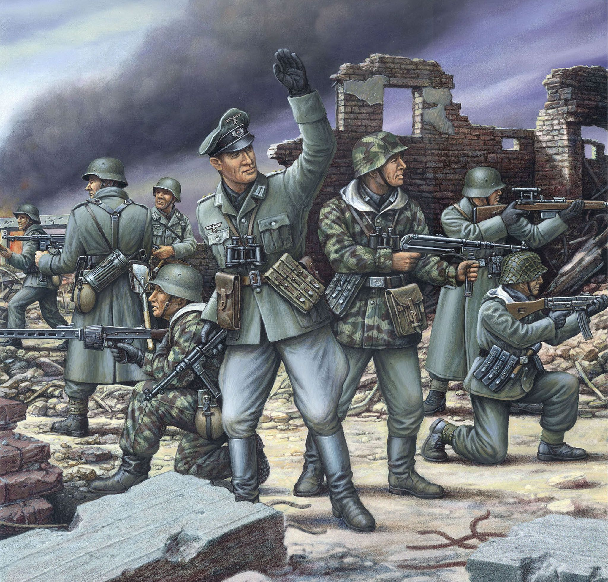 Фигури Revell - German Mechanized Infantrymen 1944 (02584) - 2