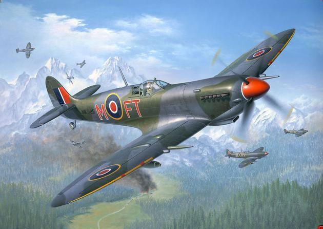 Сглобяем модел на военен самолет Revell - Supermarine SPITFIRE Mk.IX/XVI (04554) - 2