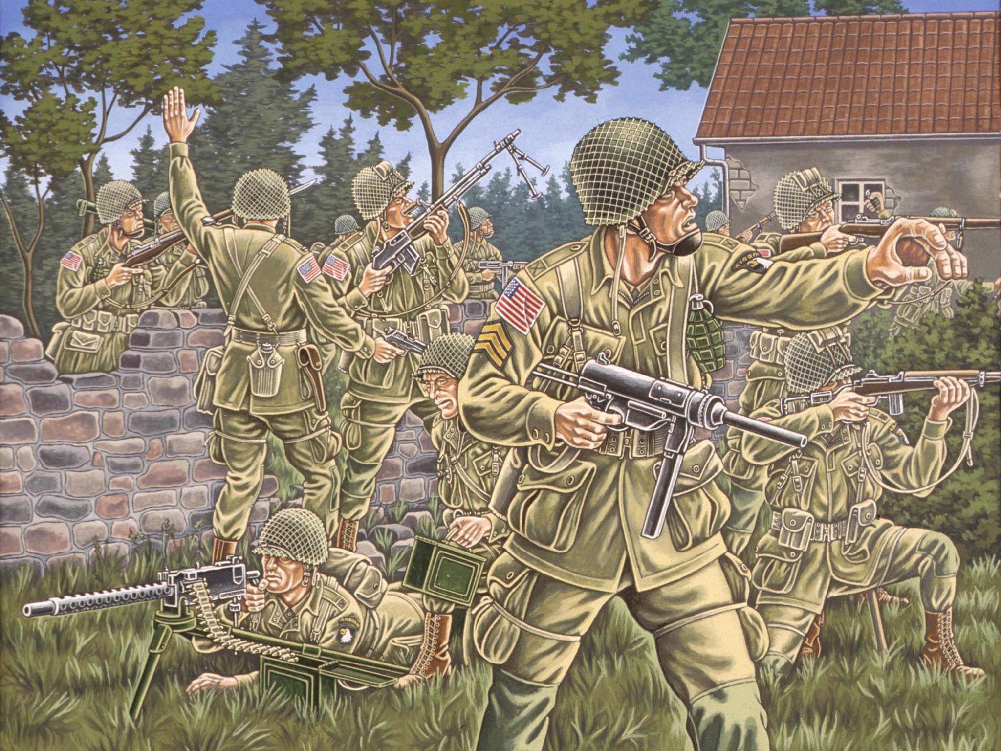 Фигури Revell - US-Airborne WWII (02517) - 1