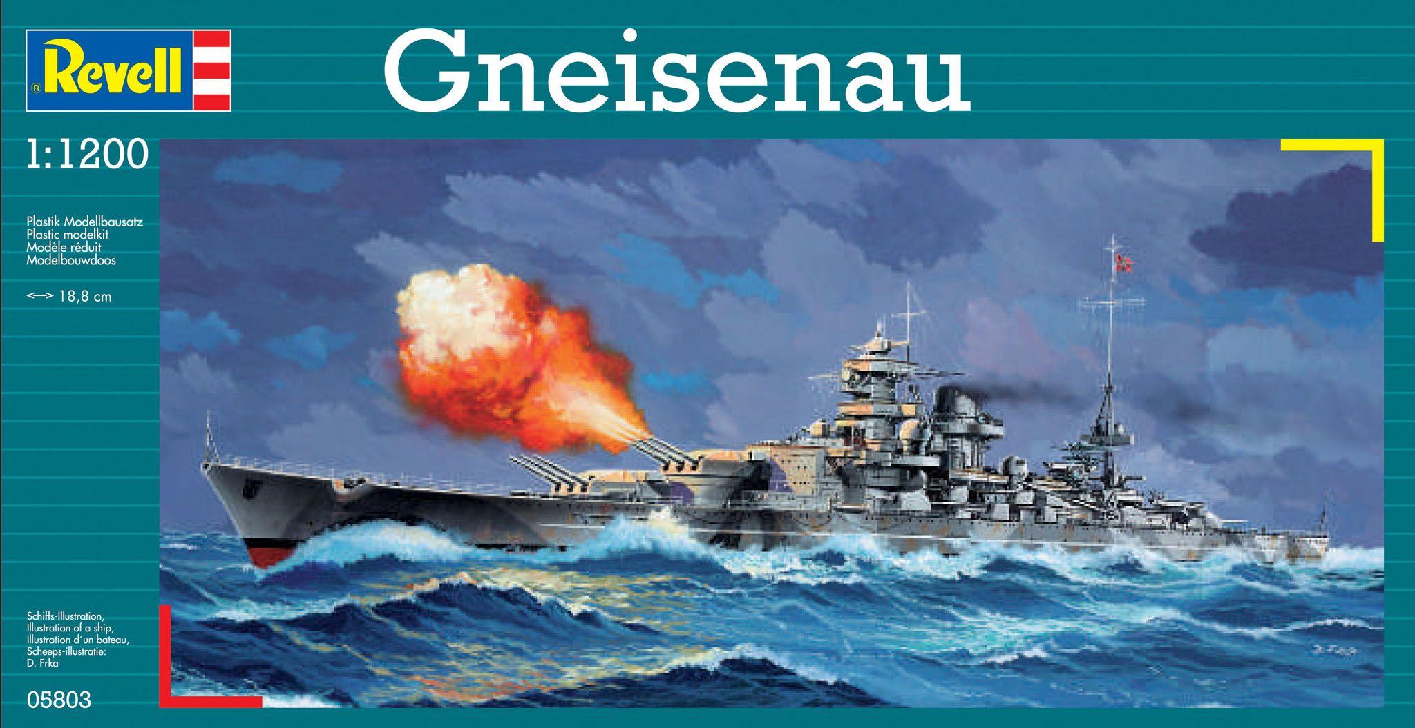 Сглобяем модел на военен кораб Revell - Gneisenau (05803) - 1