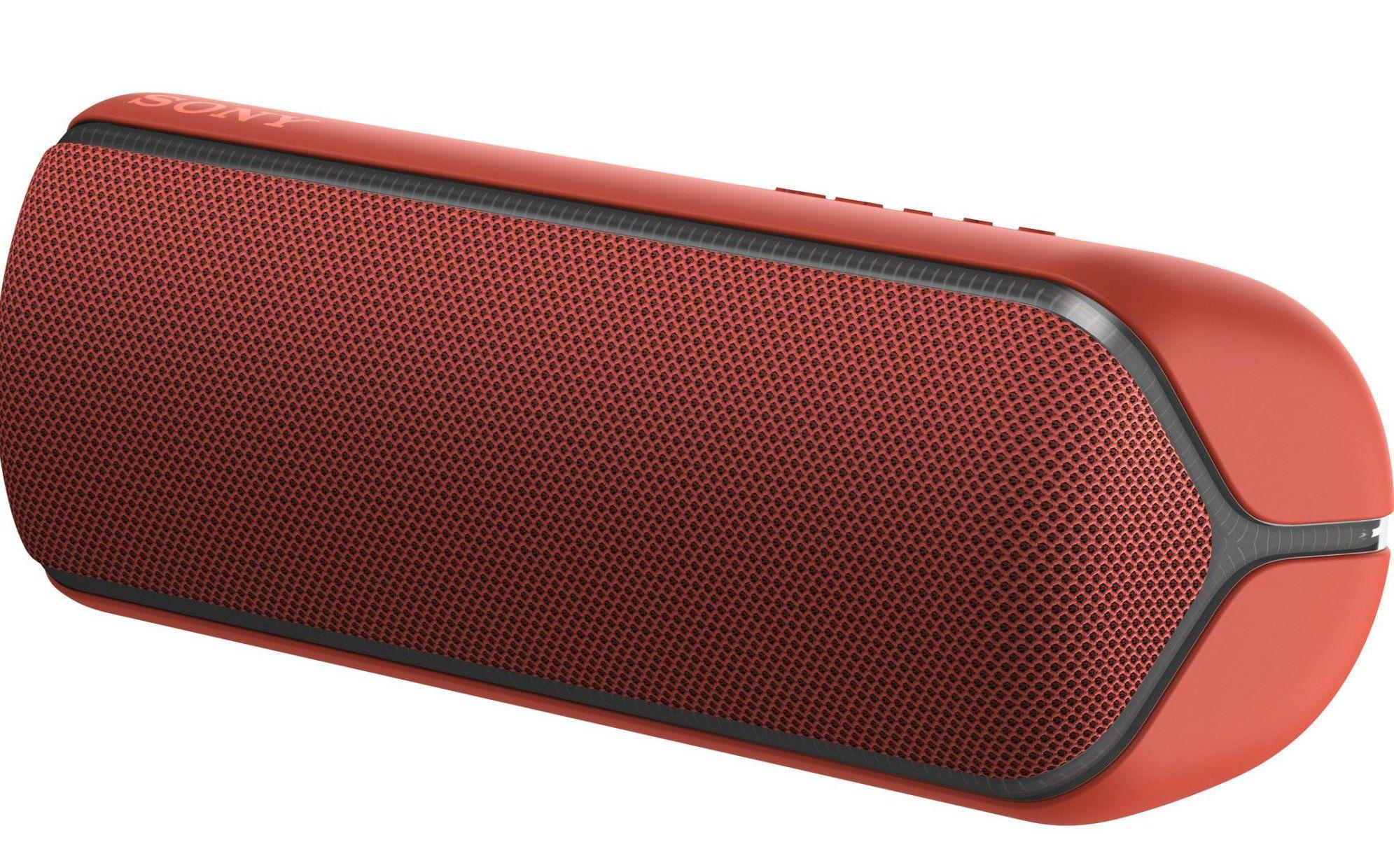 Мини колонка Sony - SRS-XB32, червена - 3