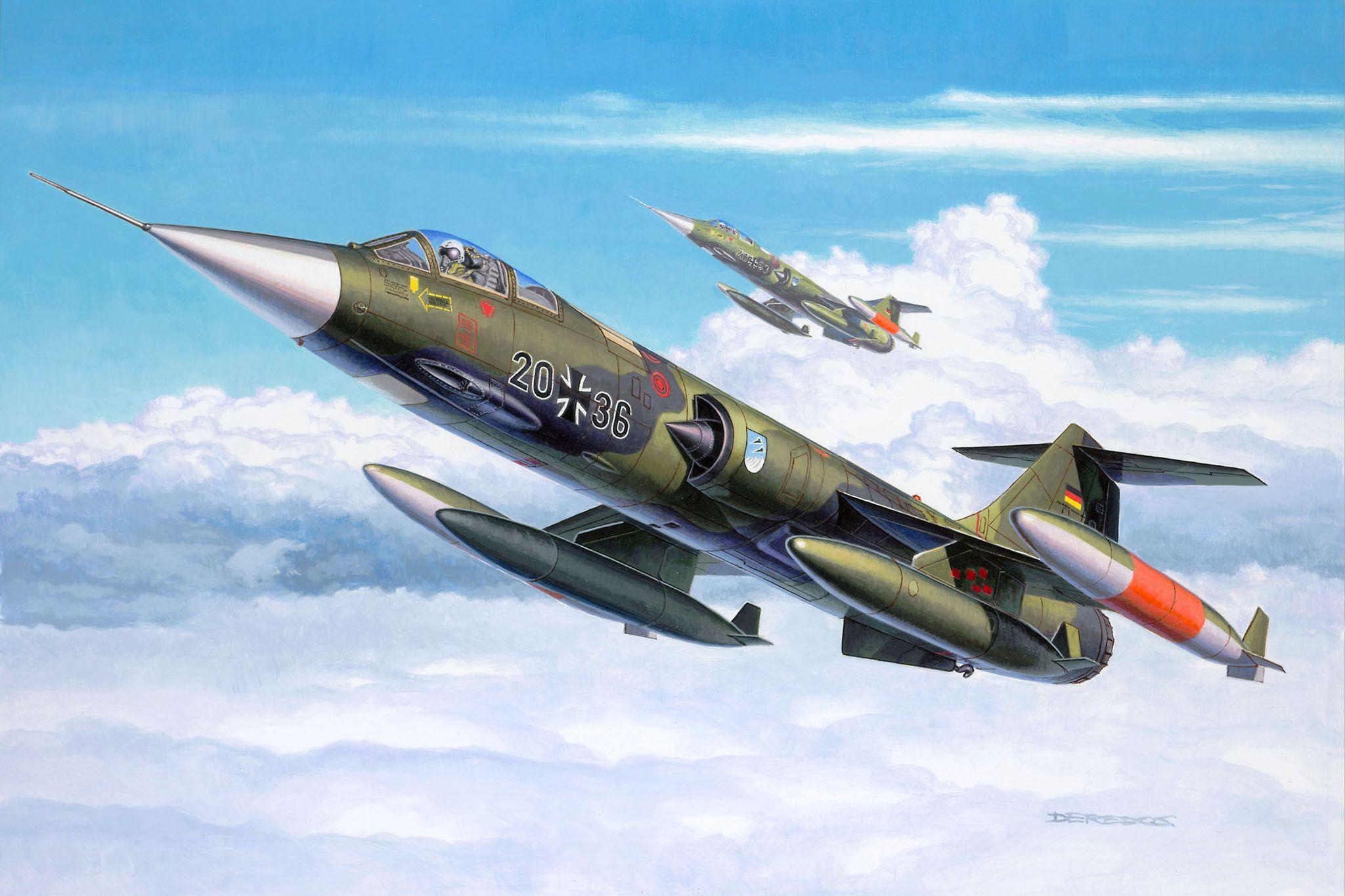 Сглобяем модел на военен самолет Revell - F-104 G Starfighter (04060) - 2