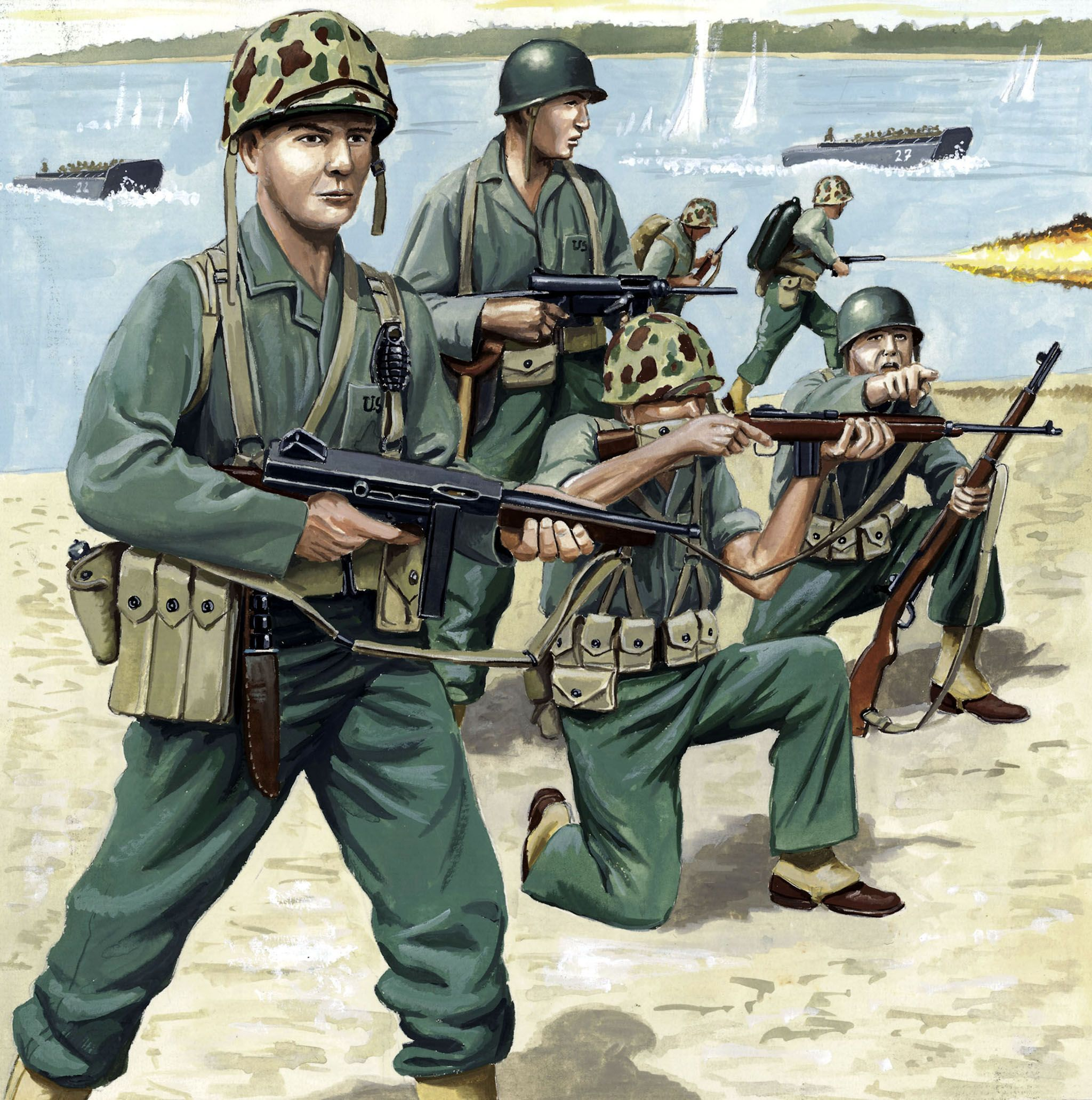 Фигури Revell - US Marines WW II (02506) - 1