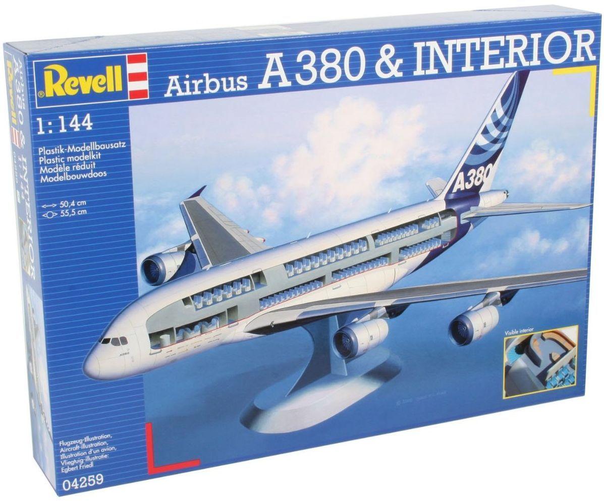 Сглобяем модел на самолет Revell - Airbus A380 & Interior (04259) - 1