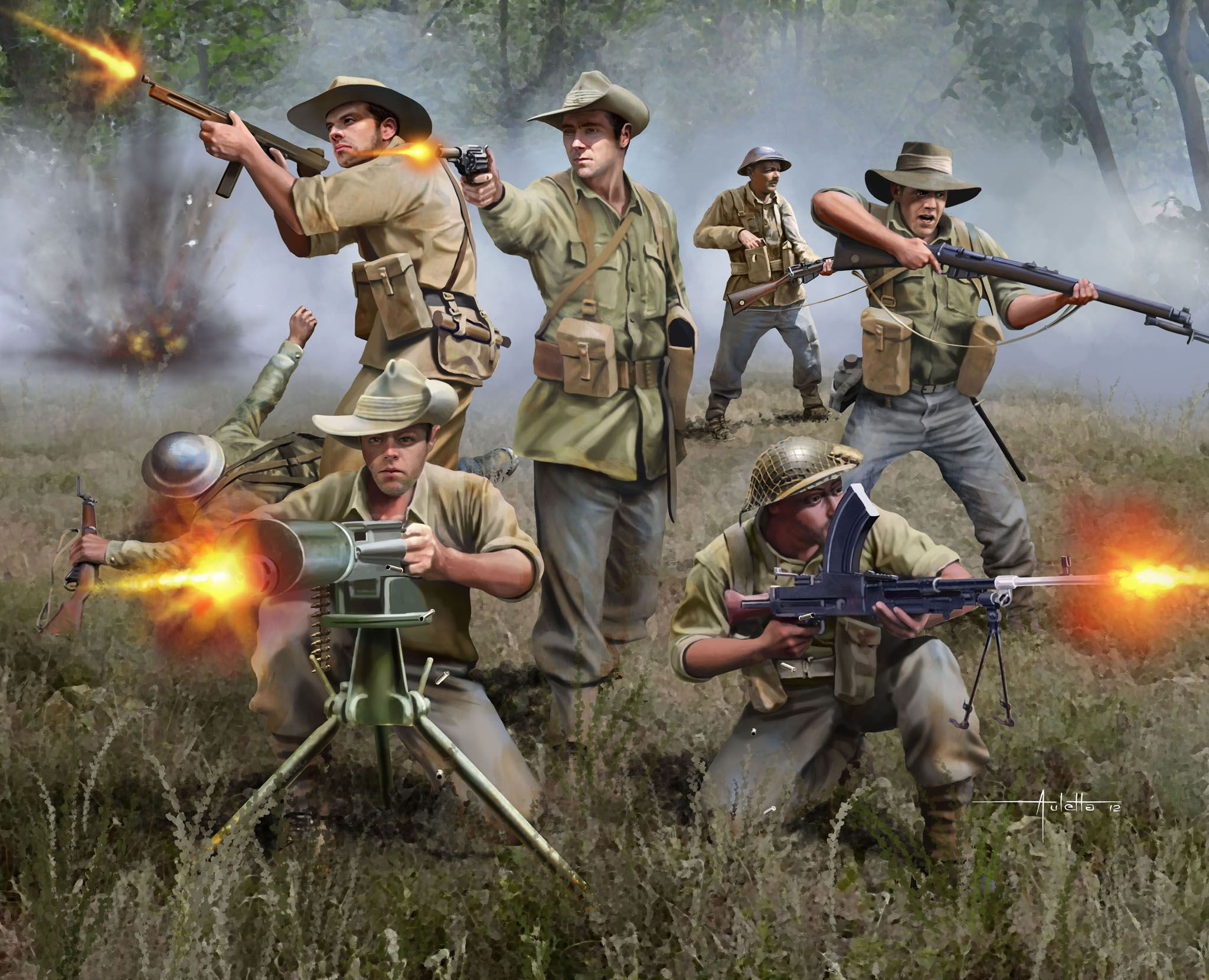 Фигури Revell - Australian Infantry WWII (02501) - 2