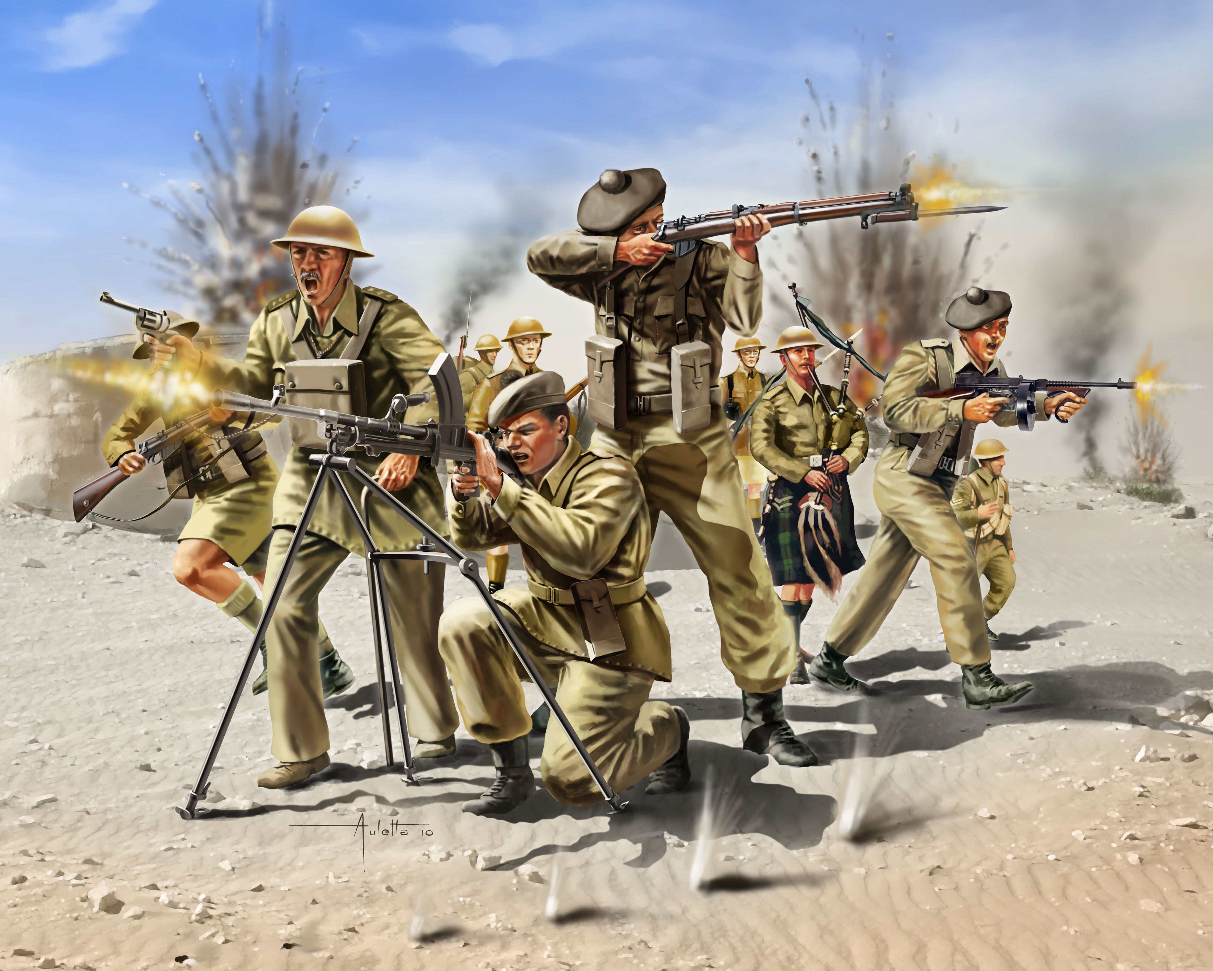 Фигури Revell - Scottish Infantry 8th Army WW II (02512) - 1