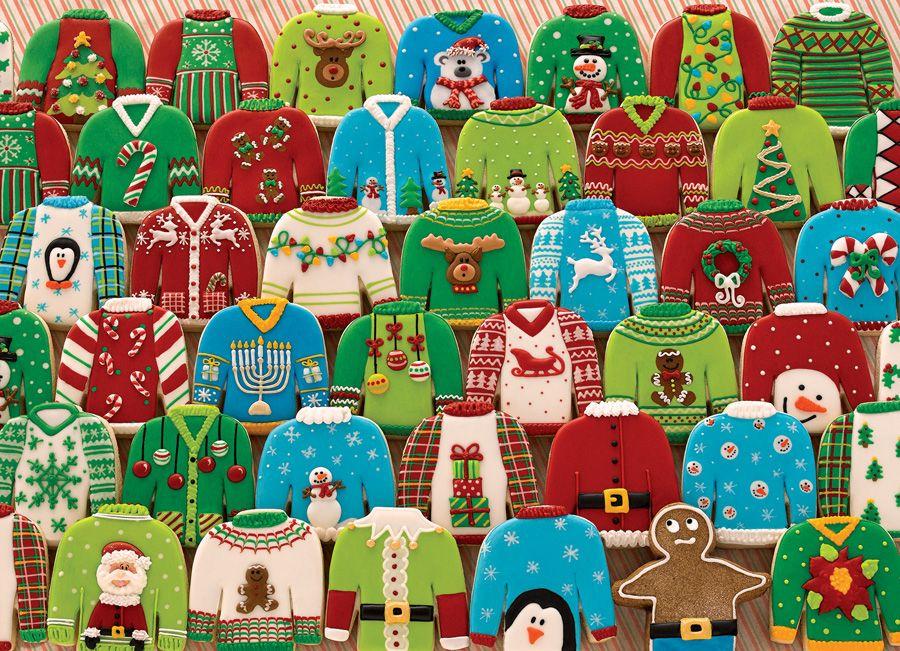 Пъзел Cobble Hill от 1000 части - Грозни коледни пуловери - 2