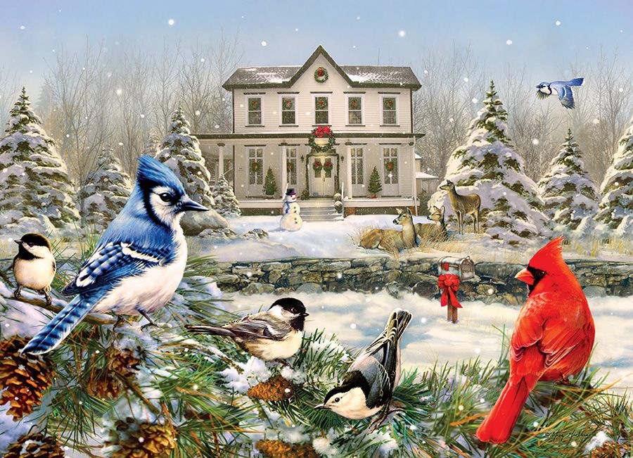 Пъзел Cobble Hill от 1000 части - Къщичка за птички, Грег Джордано - 2