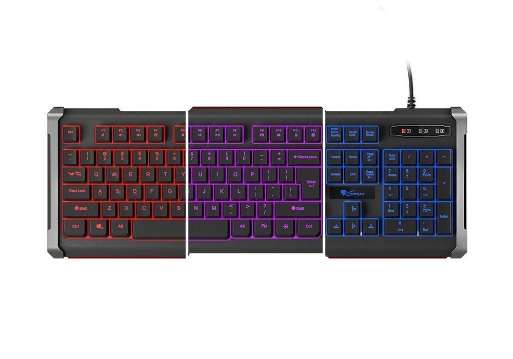 Гейминг клавиатура Genesis RHOD 400 - подсветка в 3 цвята - 6