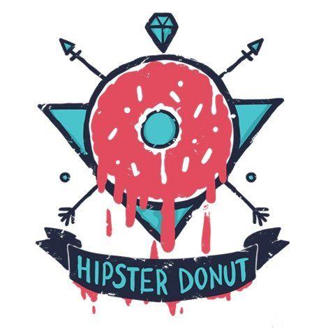 Тениска RockaCoca Hipster Donut, бяла, размер L - 2