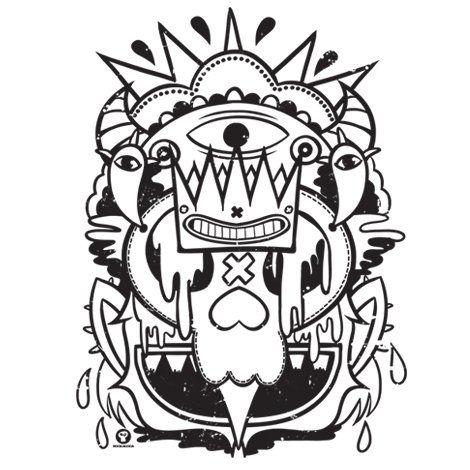 Тениска RockaCoca Skull King, бяла, размер L - 2