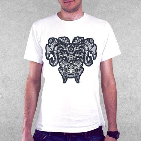 Тениска RockaCoca Mask, бяла, размер S - 2