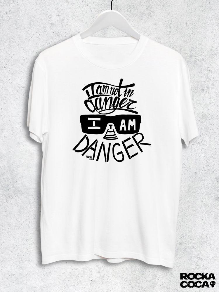 Тениска RockaCoca The Danger, бяла, размер S - 1