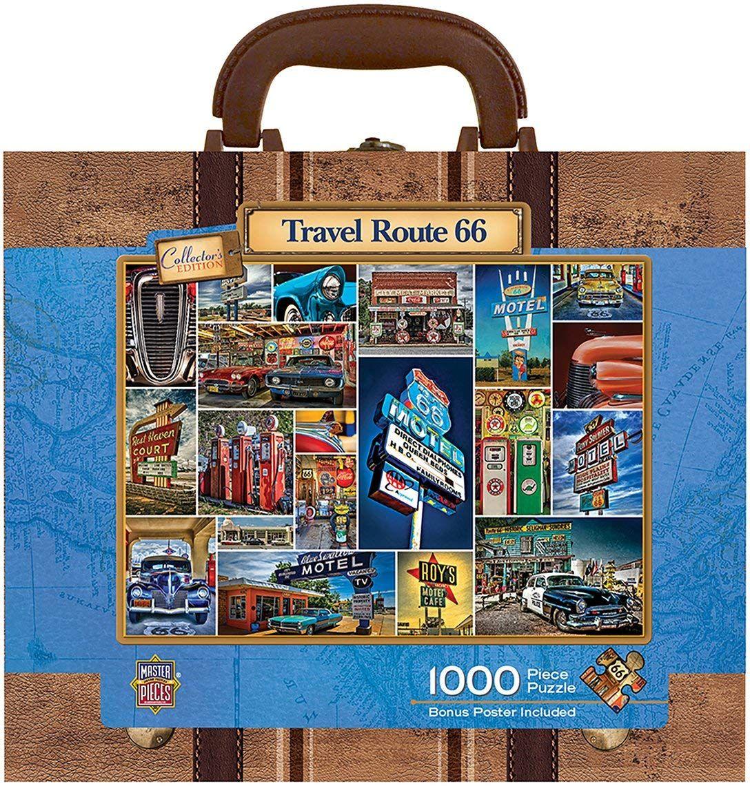Пъзел в куфарче Master Pieces от 1000 части - Път 66 - 2
