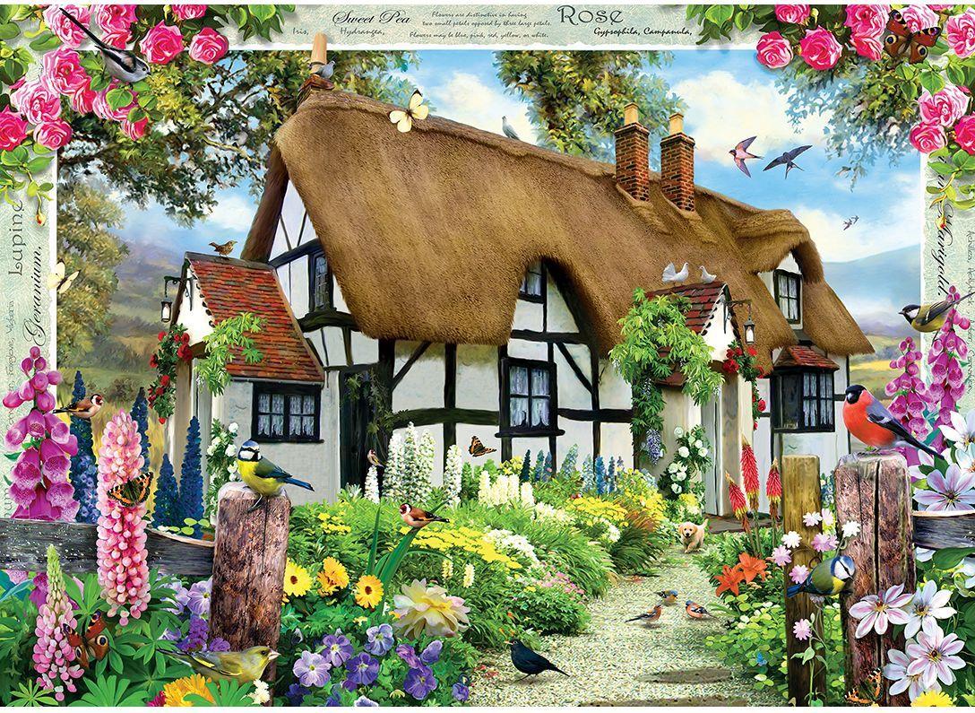 Пъзел Master Pieces от 1000 части - Розовата къщурка, Хауърд Робинсън - 2