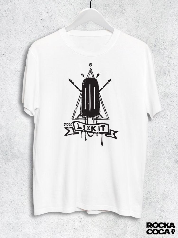 Тениска RockaCoca Lick it, черна/бяла, размер S - 1
