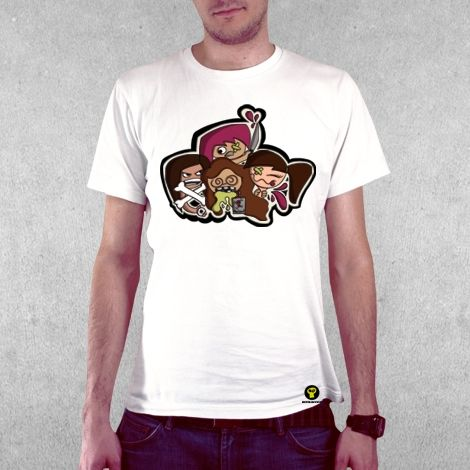 Тениска RockaCoca Play Guy, бяла, размер M - 2