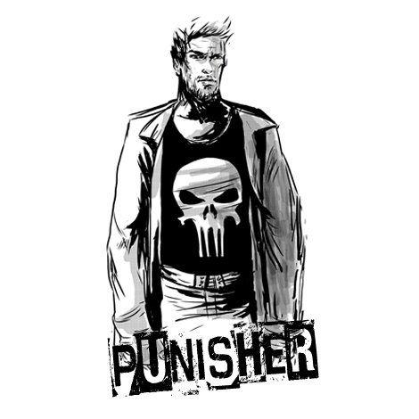 Тениска RockaCoca Punisher, бяла, размер M - 2