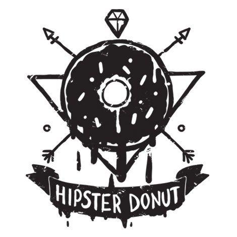Тениска RockaCoca Hipster Donut, черна/бяла размер L - 2