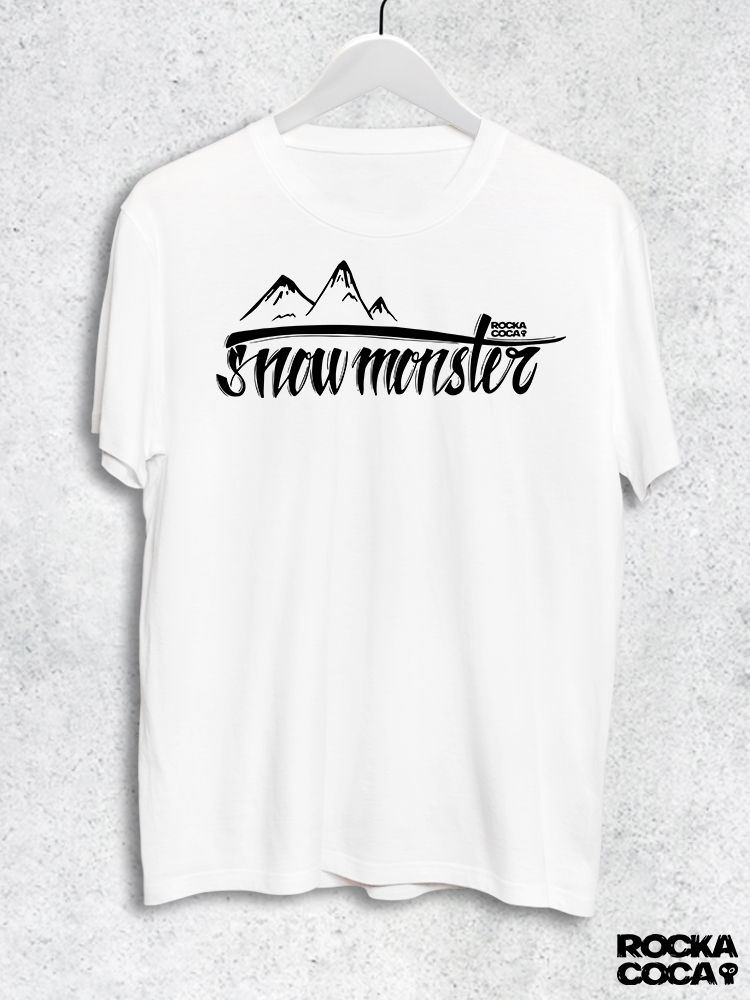 Тениска RockaCoca Snow Monster, бяла, размер M - 1