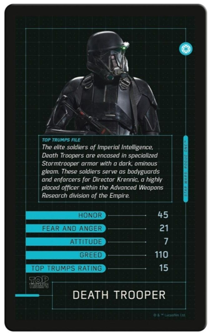 Игра с карти Top Trumps - Star Wars Rogue One - 2