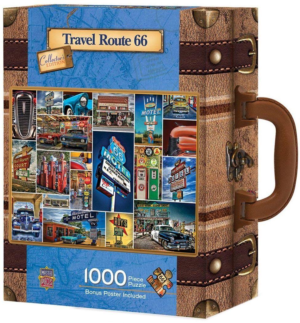 Пъзел в куфарче Master Pieces от 1000 части - Път 66 - 1